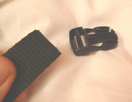 Then you attach the buckle to the other end of the strap